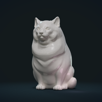 Small Fat Cat 3D Printing 234698
