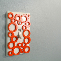 Small Decorative switch-plate 3D Printing 23473