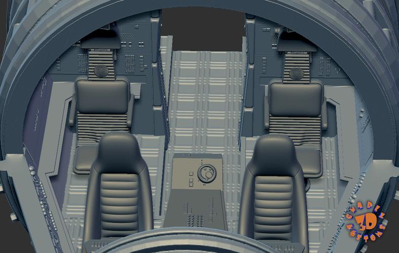 Millennium Falcon Cockpit-read description for directions