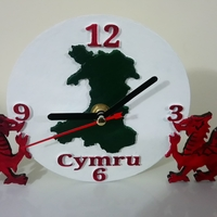 Small Welsh Dragon Clock 3D Printing 234817