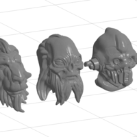 Small Alien head set 1 3D Printing 234829