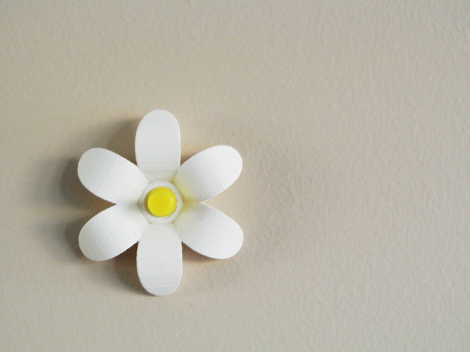 Flower-shaped Push pin 3D Print 23490