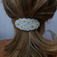 Small Hair Barrete with Daisies 60-76 3D Printing 234904