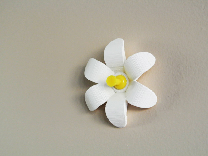Flower-shaped Push pin 3D Print 23491