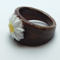 Small Ring with embedded daisy  3D Printing 234985