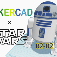 Small Simple R2D2 with Tinkercad 3D Printing 235100
