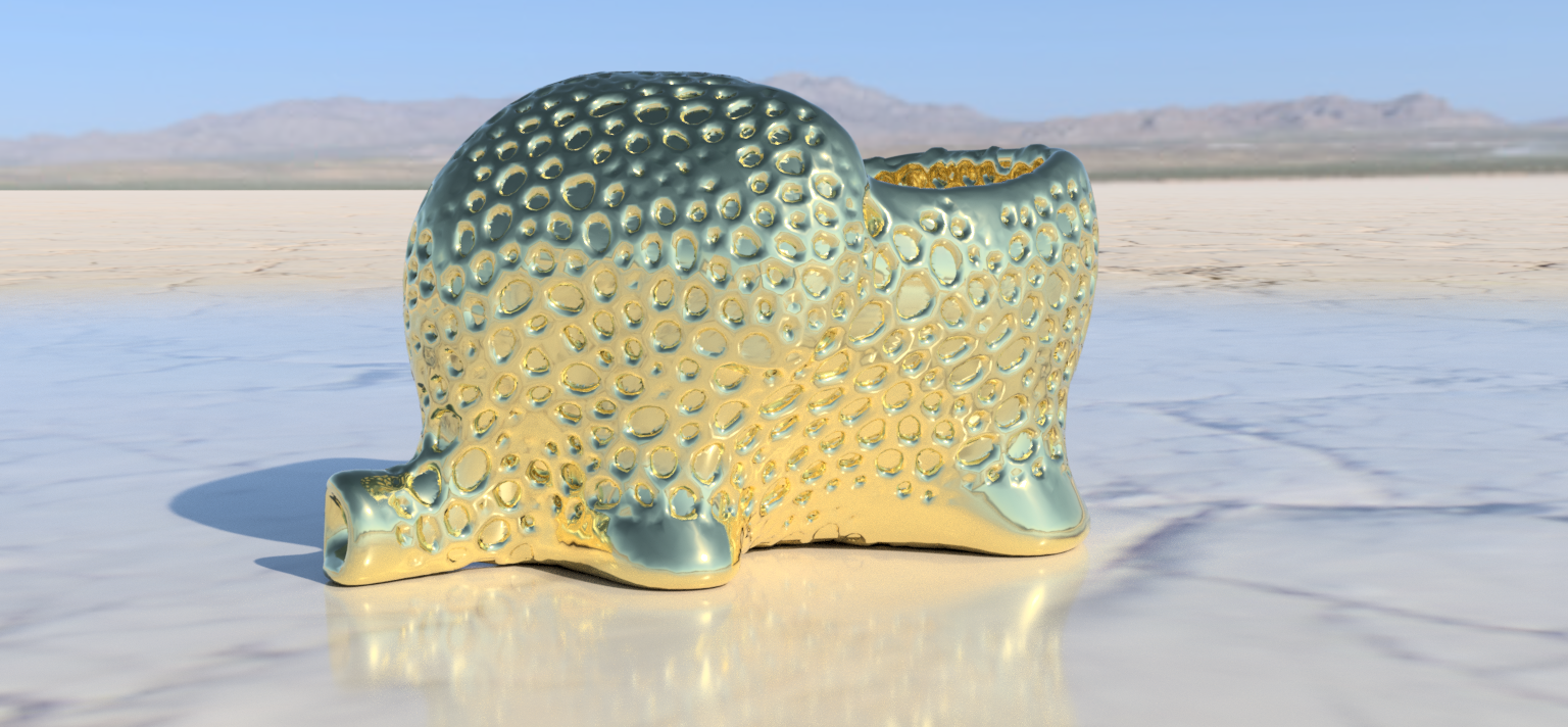 3D Printed Elephant dryer (closed voronoi) by IdeaLab | Pinshape