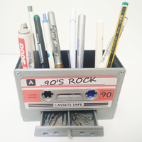 Small CASSETTE TAPE PEN HOLDER 3D Printing 235133