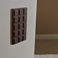Small Chocolate outlet cover 3D Printing 23521