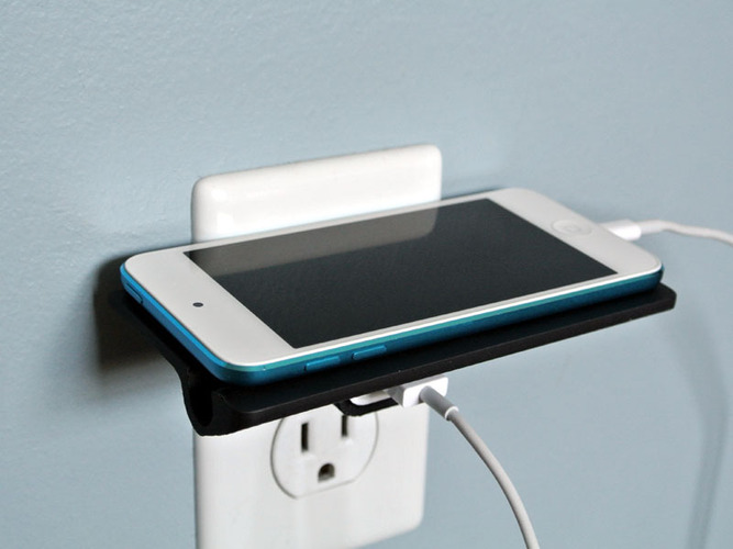Wall Outlet Shelf  3D Print 23525