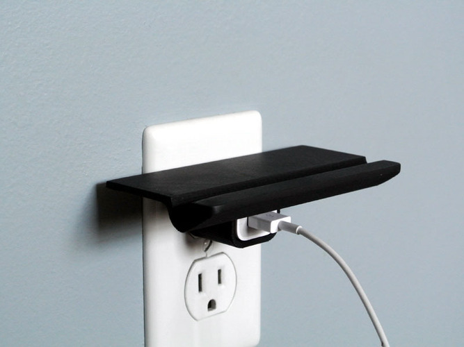 Wall Outlet Shelf  3D Print 23526