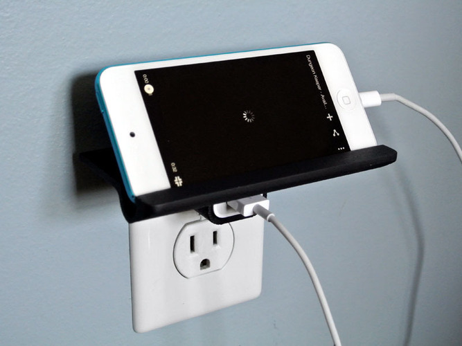 Wall Outlet Shelf  3D Print 23527