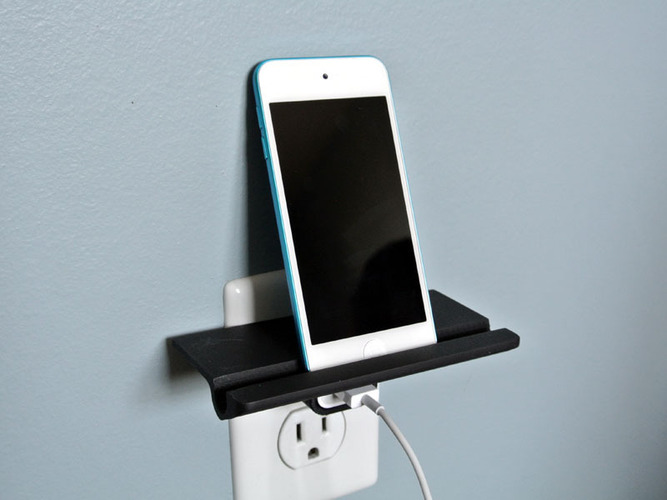 Wall Outlet Shelf  3D Print 23528