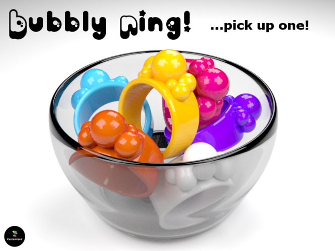 Bubbly Ring 3D Print 23544