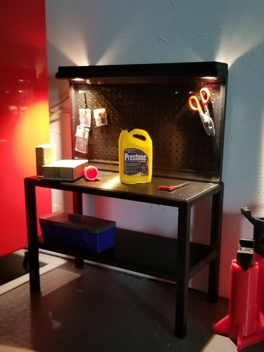 1Tenth Scale Pegboard Workbench 3D Print 235666