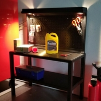 Small 1Tenth Scale Pegboard Workbench 3D Printing 235666
