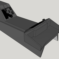 Small RHD 1/9th ish Range Rover Classic Center Console 3D Printing 235679