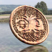 Small Celtic tree of Life drink-coaster (version 2) 3D Printing 235781