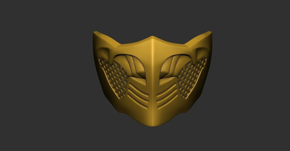 3d Printed Mortal Kombat X Scorpion Mask For Cosplay By