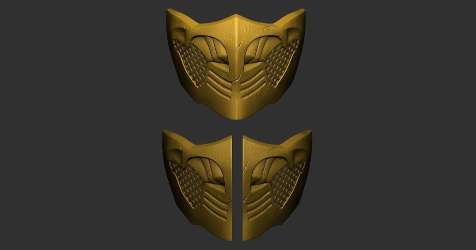 3d Printed Mortal Kombat X Scorpion Mask For Cosplay By Bstar3dprint Pinshape