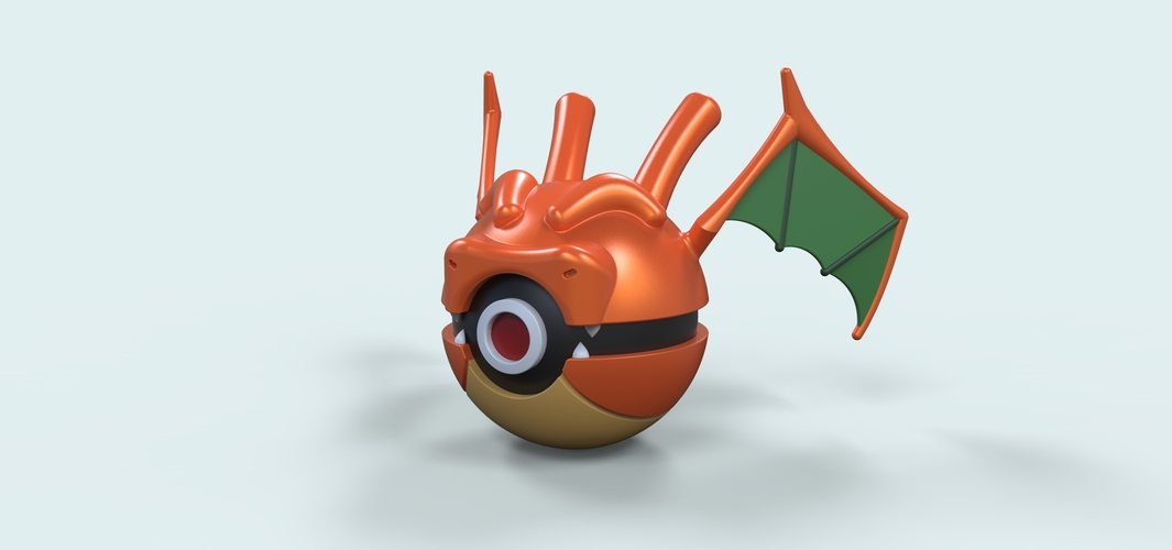 Pokeball Dragonite 3D Print 236227