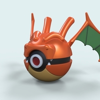 Small Pokeball Dragonite 3D Printing 236227