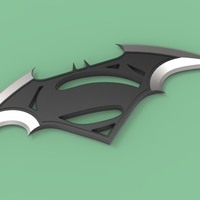 Small Batarang & Logo Batman vs Superman 3D Printing 236325