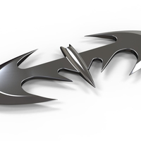 Small Batarang from movie Batman and Robin 1997 3D Printing 236350