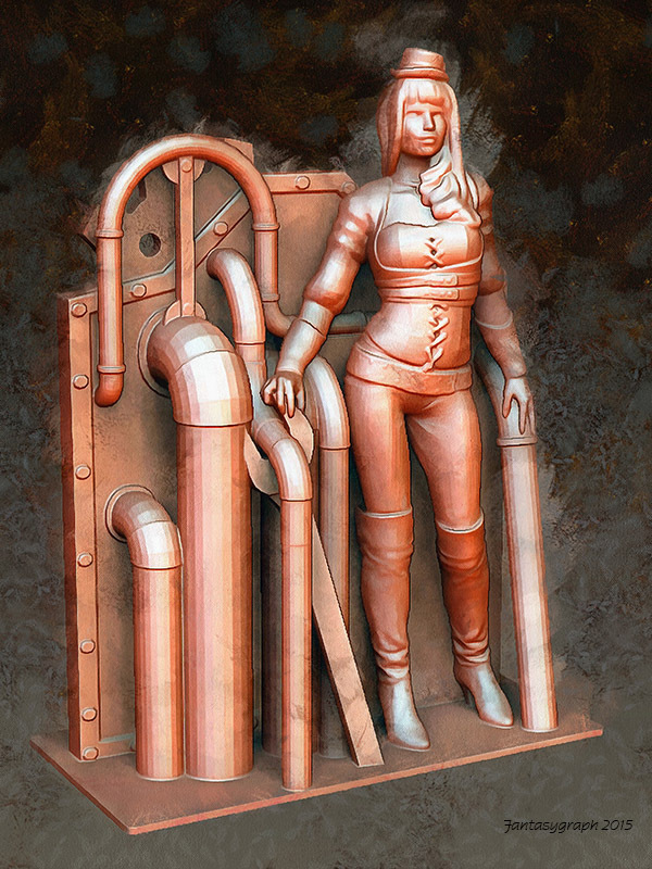 Medium Steampunk Lady : Lenora 3D Printing 23637
