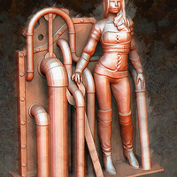 Small Steampunk Lady : Lenora 3D Printing 23637