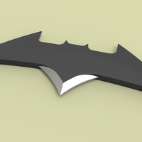 Small Batarang version 2 3D Printing 236385