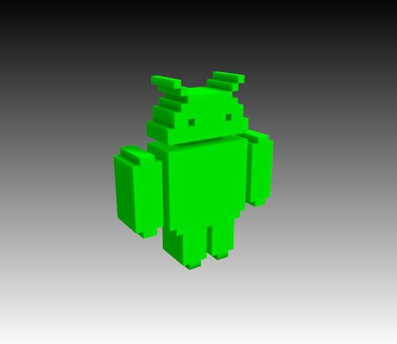 Voxel Android 3D Print 23639