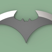 Small Batarang version 4 3D Printing 236403