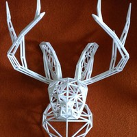 Small Jackalope Bust 3D Printing 23651