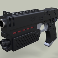 Small Lawgiver from movie Judge Dredd 3D Printing 236595