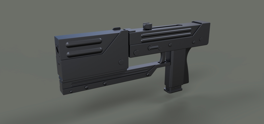 Modified MAC-11 from movie Blade 3D Print 236644