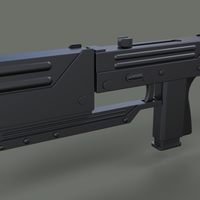 Small Modified MAC-11 from movie Blade 3D Printing 236644