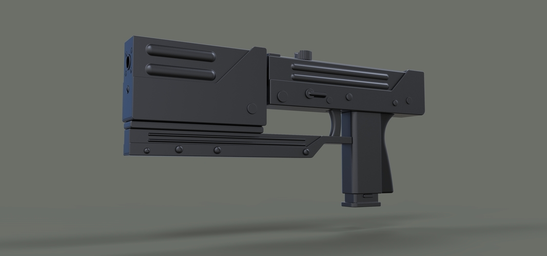 Modified MAC-11 from movie Blade 3D Print 236645