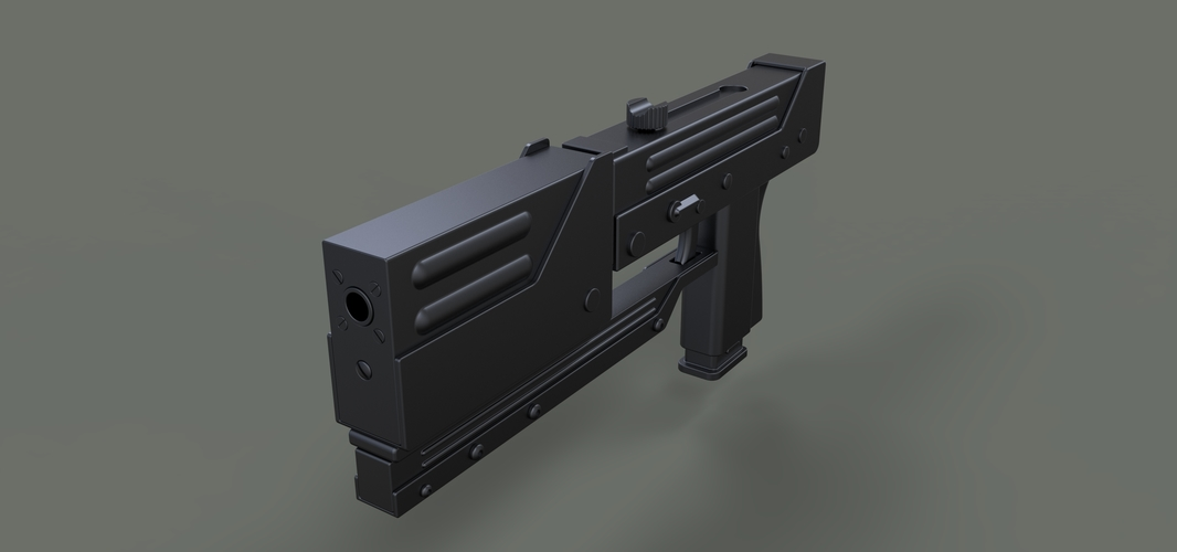 Modified MAC-11 from movie Blade 3D Print 236646