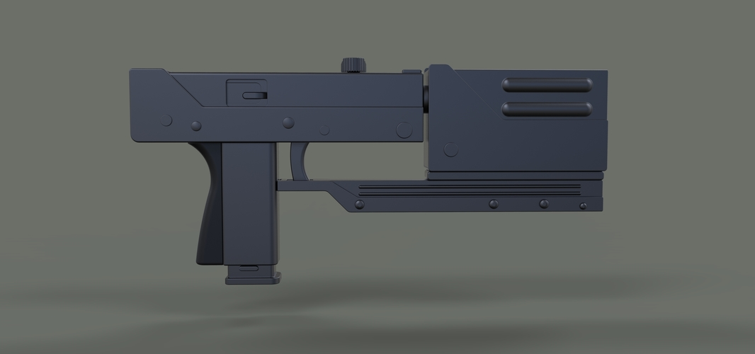 Modified MAC-11 from movie Blade 3D Print 236652