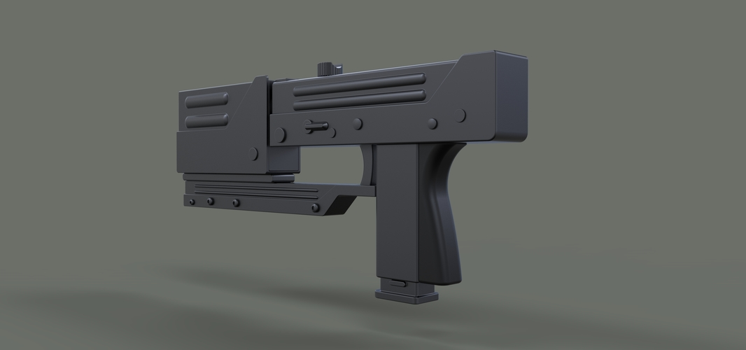 Modified MAC-11 from movie Blade 3D Print 236654