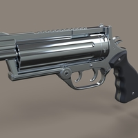 Small Revolver from movie R.I.P.D 3D Printing 236743