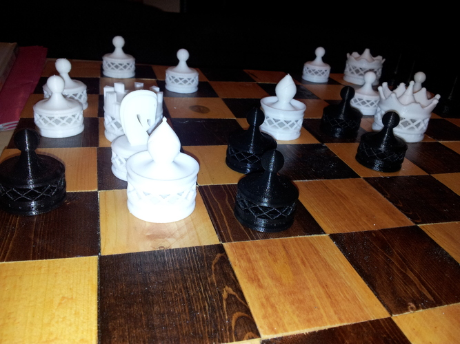 Double Spiraled Chess Set 3D Print 23679