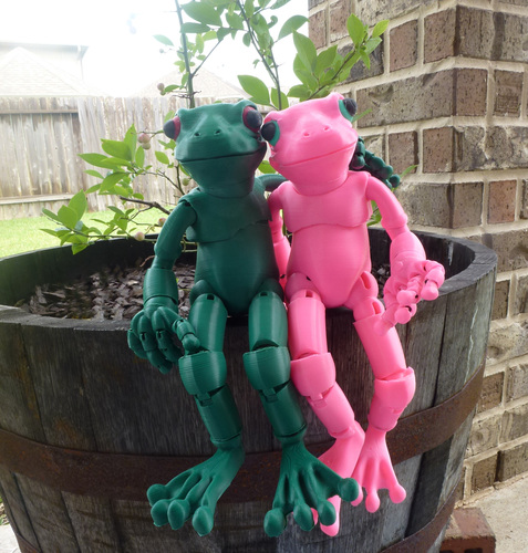 Froggy: the 3D printed ball-jointed frog doll 3D Print 23697