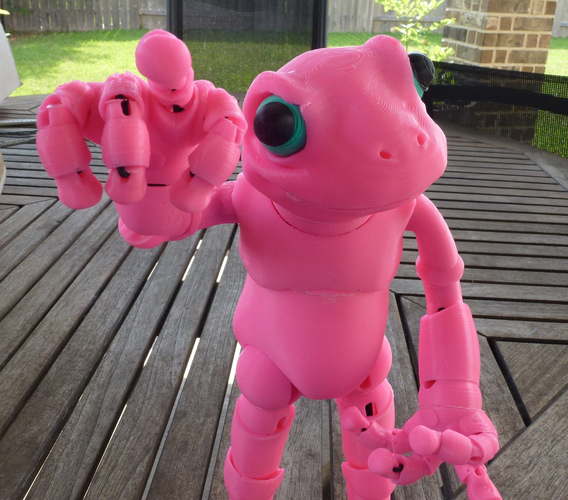 Froggy: the 3D printed ball-jointed frog doll 3D Print 23698