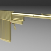 Small Golden Gun from James Bond 007 3D Printing 237110