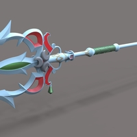 Small Lightscale trident from the game Legend of Zelda 3D Printing 237169