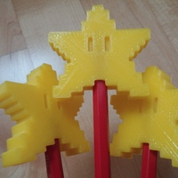 Small Pixel Star Pen Topper 3D Printing 23720