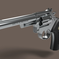 Small Revolver Smith & Wesson Model 22 3D Printing 237351