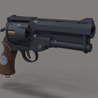Small Samaritan revolver from movie Hellboy 3D Printing 237378